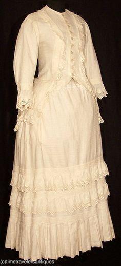 1882, dimity summer dress.