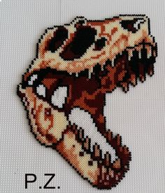 Dino-Skelett mini hama beads by piazobel