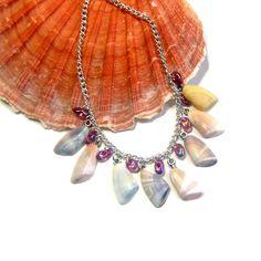 boho beach hippie choker beach chic hippie style seashell jewelry beach boho necklace boho hippie necklace boho chic seashell necklace by LovesShellsBeads on Etsy