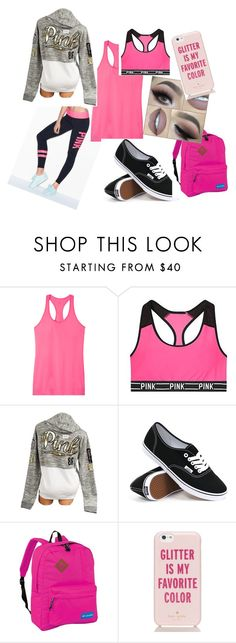 """""""Pink"""" by jasonkylielove on Polyvore featuring Victoria's Secret, Vans, Columbia and Kate Spade"""
