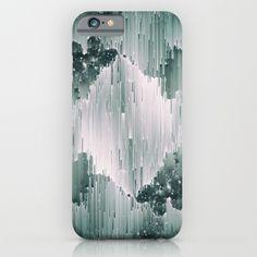 """Mikaela"", phone case on @Society6. Pixel sorting glitch art."