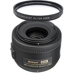 61275 photo-video Nikon AF-S Nikkor 35mm f/1.8G DX Wide Angle Lens + UV Filter  BUY IT NOW ONLY  $172.89 Nikon AF-S Nikkor 35mm f/1.8G DX Wide Angle Lens + UV Filter...