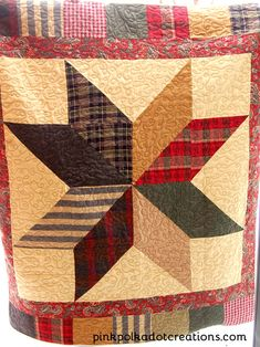 Quilts Pink Polka Dot Creations: Star Quilt, pattern from Country Threads.Pink Polka Dot Creations: Star Quilt, pattern from Country Threads. Easy Hand Quilting, Hand Quilting Patterns, Quilt Block Patterns, Easy Quilts, Quilting Projects, Quilting Designs, Big Block Quilts, Star Quilt Blocks, Star Quilts