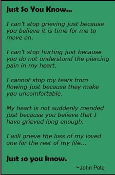 Grief, Death, Loss, Grieving, John Pete, Click image to view the YouTube video.