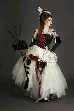 Did you know that you can get married goth style? We caught up with gothic wedding celebrant Steff Green to find out a bit about the dark side. Describe to us the perfect gothic. Goth Wedding Dresses, Wedding Dress 2013, Wedding Gowns, Wedding Hair, Wedding Stuff, 2017 Wedding, Witch Wedding, Gothic Wedding, Pirate Wedding