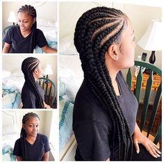Cornrows for black women goddess braid bun, braid hairstyles, fashion hairs African American Braided Hairstyles, African American Braids, African Braids Hairstyles, Braid Hairstyles, African Hair Braiding, Fashion Hairstyles, Hairstyles 2018, Cornrolls Hairstyles Braids, Conrows Hairstyles