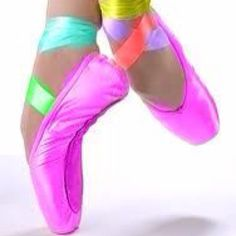 Rainbow pointe shoes:)