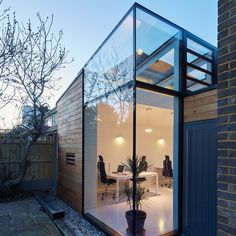 Here's a look at 12 studios architects have designed for themselves, ranging from a co-working space to a solitary woodland retreat