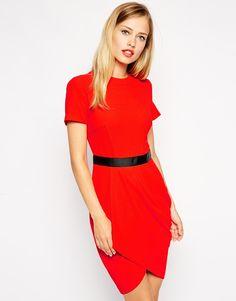 Red tulip dress