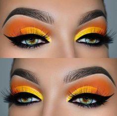 ▷ ideas and inspirations on how to make up your eyes .- ▷ 1001 + Ideen und Inspirationen, wie Sie Ihre Augen schminken Make up look - Makeup Eye Looks, Beautiful Eye Makeup, Eye Makeup Art, Love Makeup, Skin Makeup, Makeup Inspo, Eyeshadow Makeup, Beauty Makeup, Eyeliner