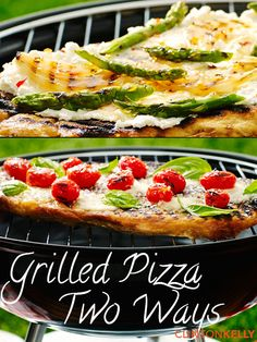 Cooking pizza on the grill is so easy and it's a great, unexpected way to use in-season produce