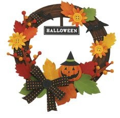Wall Decorations: Halloween 01 - Wall stickers - Wall Decorations - Home and Living - Canon Creative Park Origami Halloween Decorations, Halloween Door Wreaths, Halloween Flowers, Halloween Paper Crafts, Halloween Kids, Paper Decorations, Holiday Crafts, Halloween Parties, Adornos Halloween