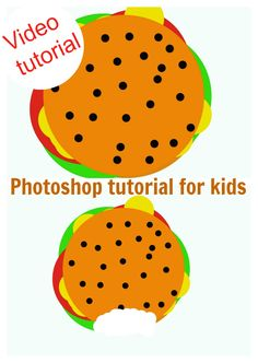 Photoshop video tutorial for kids.An eight year old explains how to create a burger with layers!