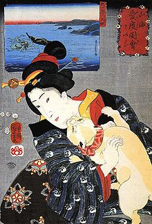 KuniyoshiUtagawa_Frau_mit_Katze