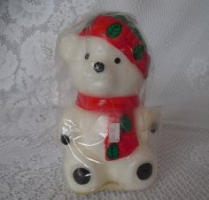 Vintage Christmas candle bear candle retro by TillieLuvsTreasures