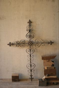 Decorative Metal Wall Crosses | Ornate Metal Cross Wall Art
