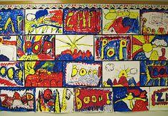Roy Lichtenstein inspired art lesson