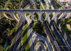Águas Livres Aqueduct. Lisbon, Portugal.