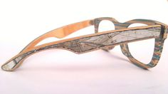 Useful Products Made From Repurposed Skateboards | Wooden Sunglasses from old Skateboards
