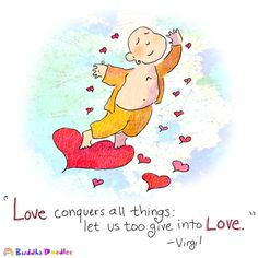 Buddha Doodle - 'Love Conquers All'  by Mollycules