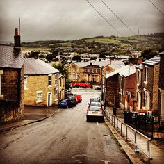 A memory from my childhood Glossop, Market Hall at bottom of this street.