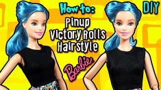 How to: Pinup Victory Roll Hair Tutorial with Barbie Doll - DIY Doll Vin...