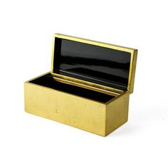 Hinged Box Pale Gold and black