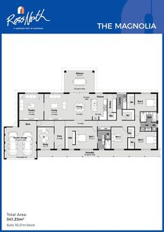 Home Design Drawings Ross North Homes The Mahogany Floor Plan kitchen dining living 4 Bedroom House Plans, Dream House Plans, House Floor Plans, House Plans Australia, Mahogany Flooring, Building A Shed, Farmhouse Design, Modern House Design, Planer