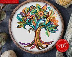 Cross Stitch Pattern Mandala Tree of Life for Instant Download - 256 |Tree of Life Cross-Stitch| Mandala Cross-Stitch| Counted Cross-Stitch