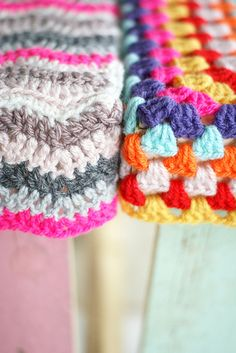 Bright crochet colors
