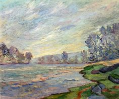Banks Of The River - Armand Guillaumin