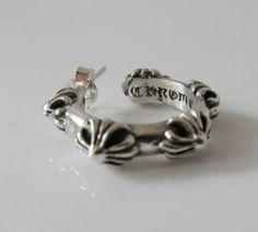7dcd8266c62 Chrome Hearts Hoop Cross S Pierced Silver Earring