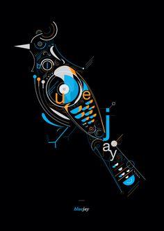 Blue Birds by Petros Afshar, via Behance