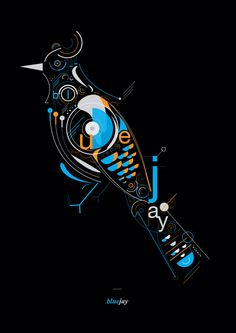 Blue Birds by Petros Afshar, via Behance