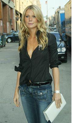 Black shirt & jeans