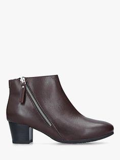 02a60e2a88d J by Jasper Conran - Black leather  Joe  block heel ankle boots ...