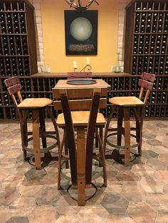Elegant Wine Bar with Stools