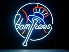 MLB New York NY Yankees Baseball Team & Neon Sign.
