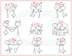 40%OFF use 40OFF coupon stick figure people love by TeoldDesign