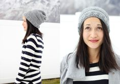 slouchy striped beany pattern from delia creates