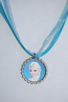 Disney's Frozen Elsa and Anna Bottle Cap Necklaces
