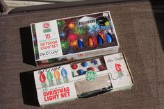 2 Vintage Christmas 15 bulb Light Strings Outdoor