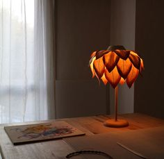 Artist and designer Sachie Muramatsu creates delicate lamp shades that resemble flowers and are made from traditional Japanese washi paper Paper Lampshade, Lampshades, Chandelier Design, Jar Chandelier, Cool Light Fixtures, Diwali Lamps, Flower Lamp, Handmade Lamps, Diy Crafts Hacks