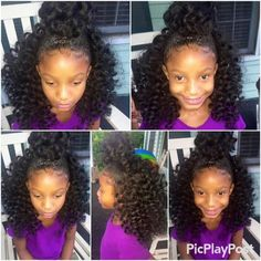 Best 20 Kids Crochet Hairstyles – Home Inspiration And Diy Crafts . Best 20 Kids Crochet Hairstyles – Home Inspiration and DIY Crafts kids crochet hair styles - Crochet Hair Styles Black Girl Braided Hairstyles, Black Kids Hairstyles, Baby Girl Hairstyles, Natural Hairstyles For Kids, Black Girl Braids, Ethnic Hairstyles, Curly Crochet Hair Styles, Curly Hair Styles, Natural Hair Styles