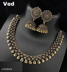 Jewellery Set Designer Women's Jewellery Set  Base Metal: Alloy Plating: Oxidised Silver Sizing: Adjustable Type: Necklace and Earrings Multipack: 1 Country of Origin: India Sizes Available: Free Size   Catalog Rating: ★4.3 (484)  Catalog Name: Designer Women's Jewellery Set CatalogID_1586988 C77-SC1093 Code: 272-9145314-666