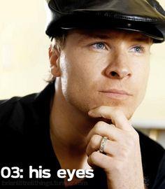 Brian Littrell - His eyes.