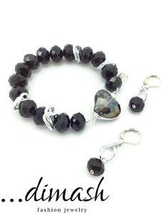 Saca tu lado más romántico con esta pulsera cristal con corazón y cadena plateada