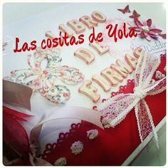 Libros de firmas para bodas en LAS COSITAS DE YOLAhttp://lascositasdeyola.blogspot.com/