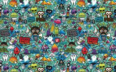 Desktop Wallpaper,3D,Abstract,colorful,Doodle,Drawing,small,HD Wallpapers,Widescreen Wallpapers