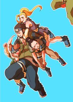 Team 10 shikamaru, ino, choji and asuma-sensei